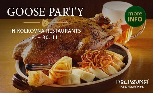 Goose Party in Kolkovna Restaurants - CZ